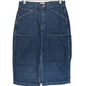 4for$20 JCrew skirt denim 30W pencil panel pockets